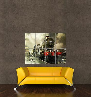 POSTER PRINT GIANT TRAVEL TRANSPORT VINTAGE STEAM TRAIN ENGINE RAILWAY PAMP160