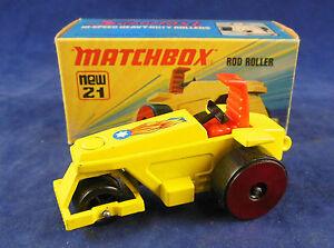 ESCASA-rojo-ruedas-Matchbox-Superfast-no-21b-Rod-Roller-En-Amarillo-Proxima-MIB