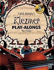 Vahid Matejkos Klezmer Play-Alongs for Violin (Book & CD), Matejko, Vahid, New B