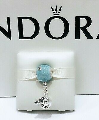 NEW Authentic PANDORA 925 Silver Elephant Blue Balloon Charm Pendant  797239EN169 | eBay