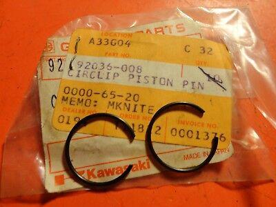 NOS Kawasaki KX500 KX420 W1 W2SS KDX450 KDX400 KDX420 Circlip Clip 92036-008