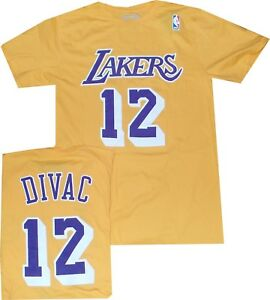 d09342998 Los Angeles Lakers Vlade Divac Throwback Adidas T Shirt Limited ...