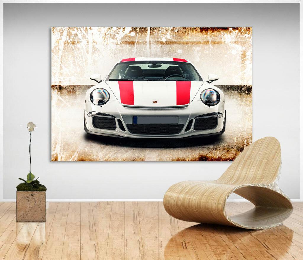 Auto Porsche Sportwagen Bunt Farbe Bild Leinwand Kunst Bilder Wandbild XXL D0578