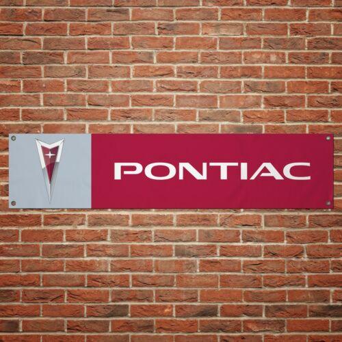 Pontiac Banner Car Garage Workshop PVC Sign Trackside Display Firebird GTO