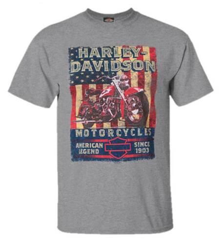 Premium Heather Gray Harley-Davidson Men/'s American Poster Short Sleeve T-Shirt