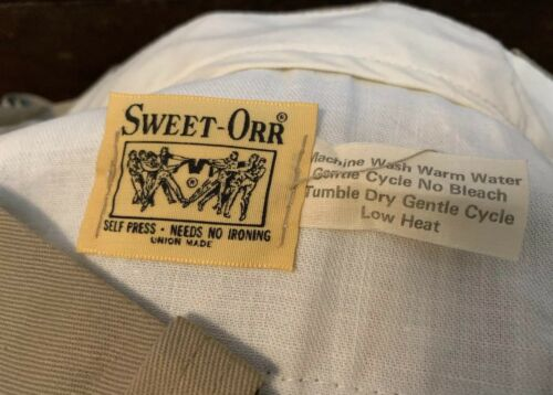 Vintage SWEET-ORR Union Made Talon Zipper Khaki Br