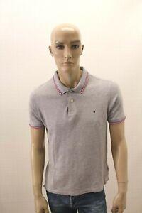 Polo-TOMMY-HILFIGER-Uomo-Maglia-Maglietta-T-Shirt-Man-Taglia-Size-L