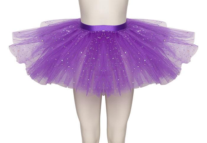 Purple Sparkly Sequin Dance Ballet Tutu Skirt Childs & Ladies Sizes By Katz
