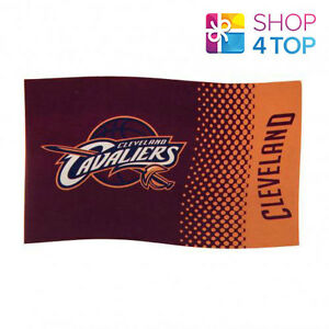 CLEVELAND CAVALIERS LARGE FLAG BASKETBALL TEAM NBA OFFICIAL NEW