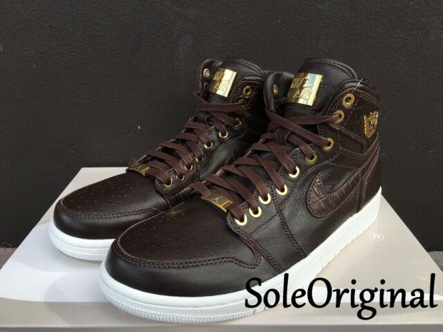 880628f47ea2d1 Nike Air Jordan 1 Retro High Pinnacle SZ 11 Baroque Brown Croc Lux OG  705075-
