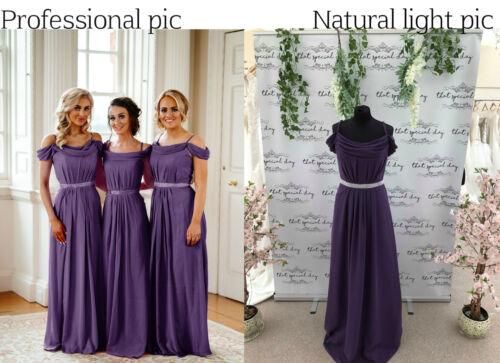 Royaume-Uni Longue Mousseline Mariage Demoiselle d/'honneur Robes Maxi soirée bal robe de bal Parti