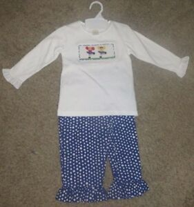 NWT-Vive-La-Fete-Cheerleader-Cheer-Smocked-Polka-Dot-Outfit-Size-18M-18-Months
