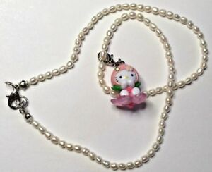 Freshwater-Rice-Pearl-Necklace-w-Peach-Baby-Hello-Kitty-Swarovski-Element-Charm
