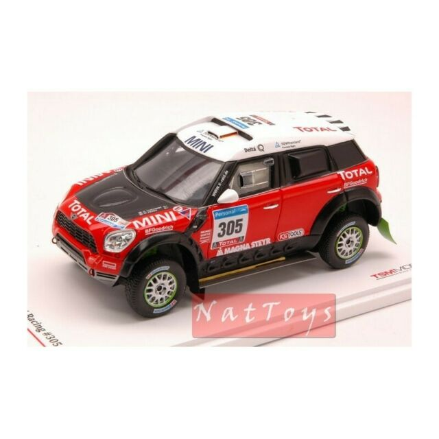 True Scale MINIATURES TSM114351 Mini ALL4 RACING N.305 DAKAR 2011 1:43 DIE CAST