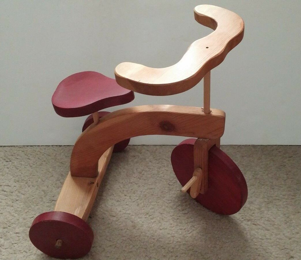 Vintage Handmade Wood Tricycle - Toys Toys Toys of Wood - 14  x 11 x 13-1 2 - USA Made cd1ffc