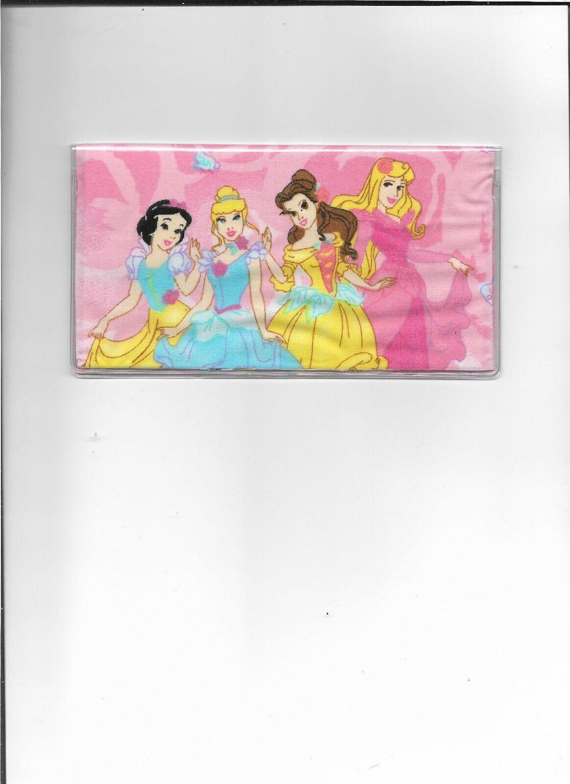 Disney Princesa Disney de tela cubierta de chequera Rosa Bella Blancanieves