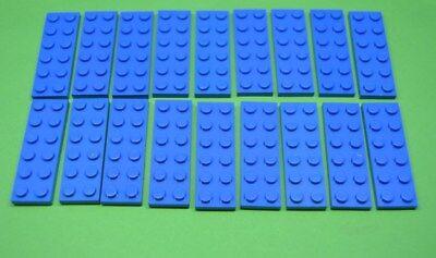 LEGO® 20Stk Platte Basic 2x6 blau 3795