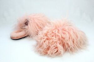 920b66abd34 UGG Fluff Momma Mongolia Clog Sheepskin Tropical Peach Color Slipper ...