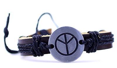 Tibet silber yin ying yang zeichen ethnisch hanf lederarmband mit anhänger