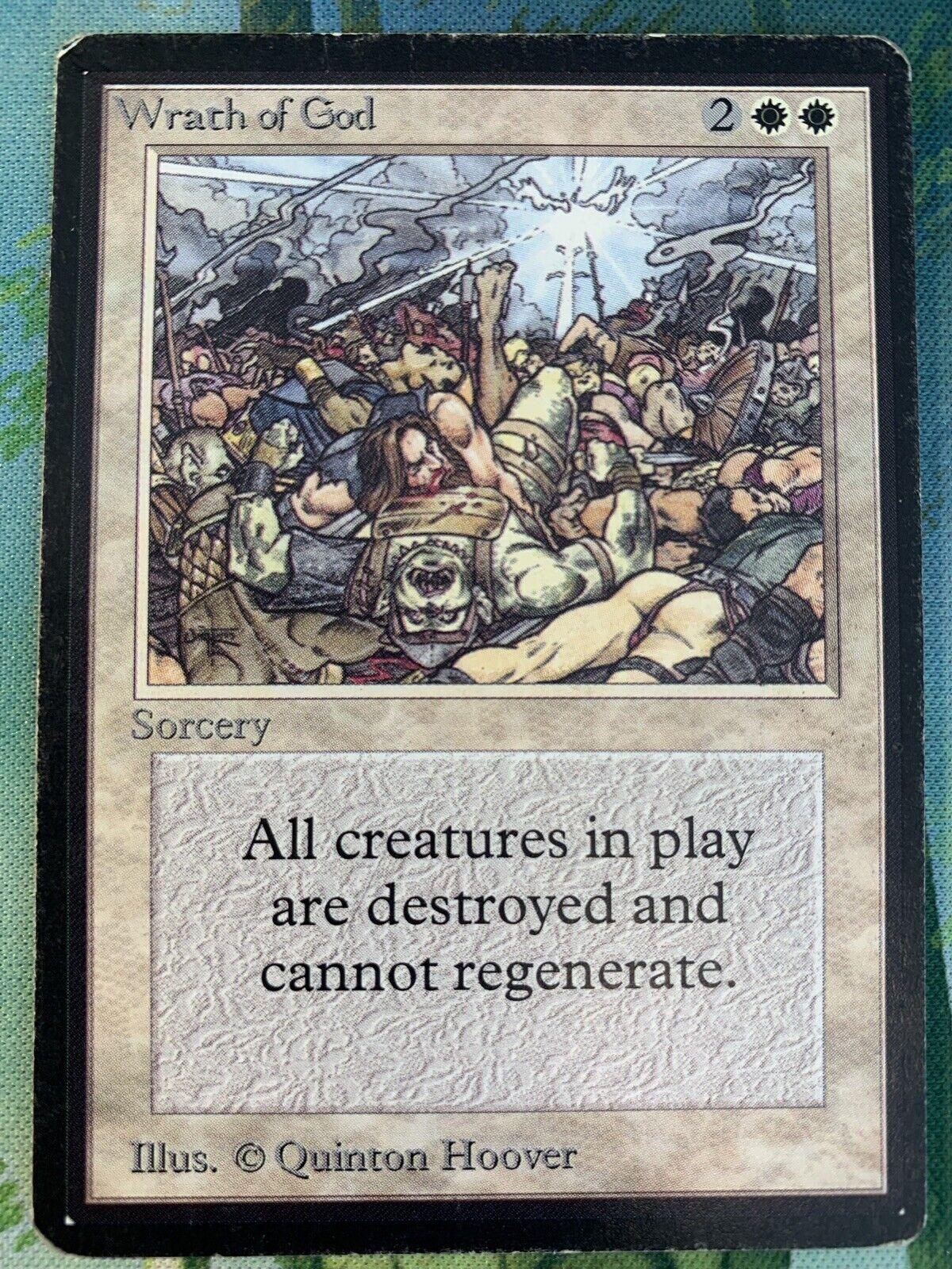X1 Beta Wrath Wrath Wrath of God (MP) MTG Magic e45b46
