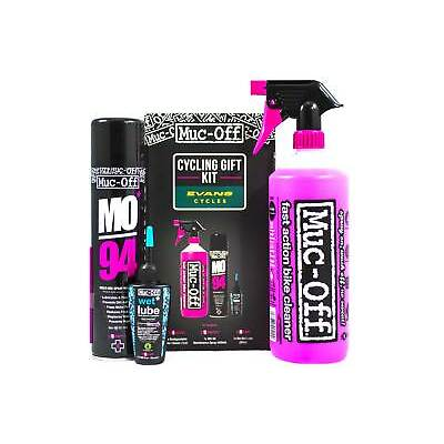 Muc-Off Cycling Maintenance Gift Kit Bike Wet Lubricant MO-94 Protection Spray