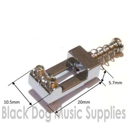 Schwarz oder Gold Qualität 6er Set Strat Gitarre Brücke Sättel in Chrom