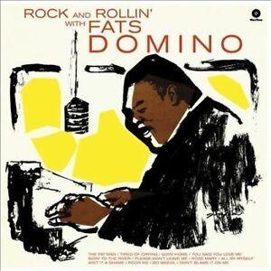 Domino-Fats-Rock-And-Rollin-039-With-Fats-Domino-4-Bonus-Tracks-New-Vinyl