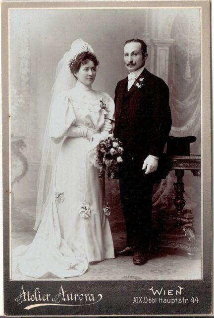 CAB photo Schönes Hochzeitsbild - Wien um 1910