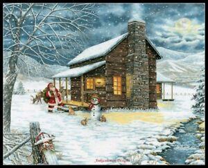 DIY Chart Counted Cross Stitch Patterns Needlework Mountain Christmas