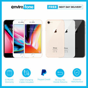 Apple iPhone 8 64GB 256GB Space Grey Silver Gold Unlocked SIM Free Smartphone