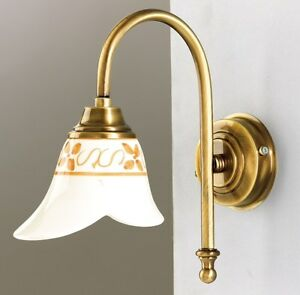 Applique per bagno in ceramica dipinta e ottone stile classico ab 2024 ebay - Applique per bagno classico ...