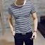 Men-Stylish-Tee-Slim-Fit-Striped-T-shirts-Casual-Shirt-Fashion-Short-Sleeve-Tops thumbnail 6