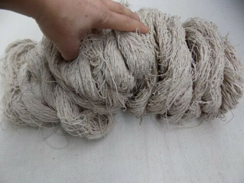 Antique homespun Flax Yarn Treads 19thC 100m//109yd//60-80g