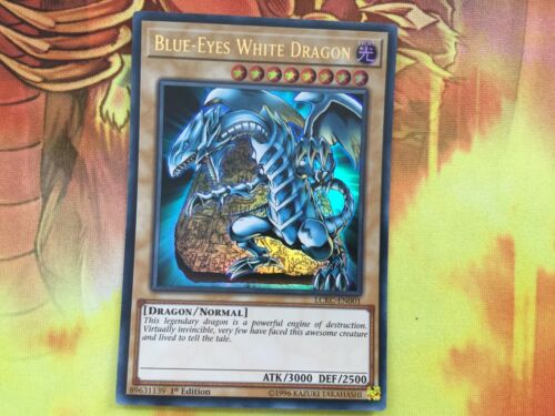 LCKC-EN001-01 Blue-Eyes White Dragon Ultra Rare 1st Edition Mint YuGiOh Card
