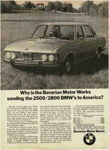 1969 BMW 2500 2800 4-door Vintage Print Ad