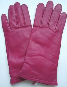 Ladies-Fownes-Cashmere-Lined-Genuine-Leather-Gloves-Medium-Pink