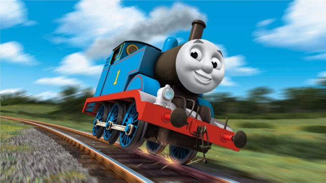 Thomas And Friends Train Poster High Quality Canvas Home Art Print Unframed