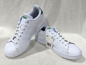 Details about adidas Women's Advantage White/Green Sneakers - Size 8/8.5 NWB FW7872