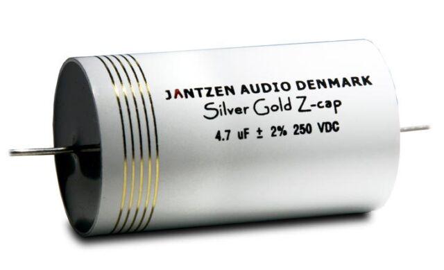 Condensatore 2,2 uF Jantzen Silver/Gold Z-Cap 800 VOLT filtro audio crossover