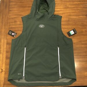 size 40 5188a 36fc1 Details about Nike New York Jets Sideline Fly Rush Pullover Hooded Vest  Mens Sz XL 906404-323
