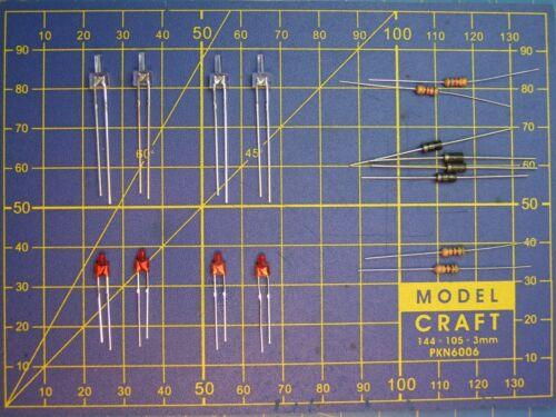 téton long 1,8 mm loco JOUEF HO éclairage 4 phares LED 4x canon long 2 mm K10
