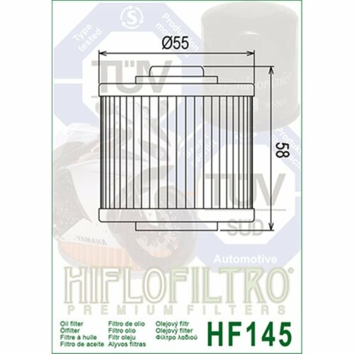 FILTRE A HUILE HF145 YAMAHA XZ550 1982-1983 PE/_HF145-28 MOTOMIKE 34