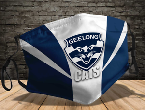 Geelong Cats Pm 2 5 Air Pollution Masks Washable Reusable Face Mask Ebay