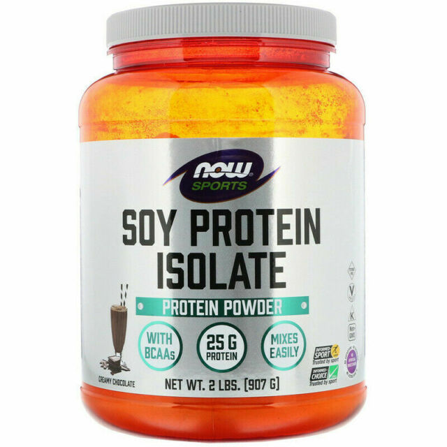 Now Foods Sports Soy Protein Isolate Creamy Chocolate 2 lbs (907 g)