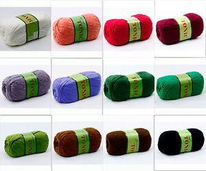 JoJoLand-Tonic-100g-Wool-Blend-Yarn-Color-Choice-Loom-Knit-Crochet-FS-Offer