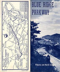 Blue Ridge Parkway Vintage 1950\'s Brochure Points of Interest Map N ...