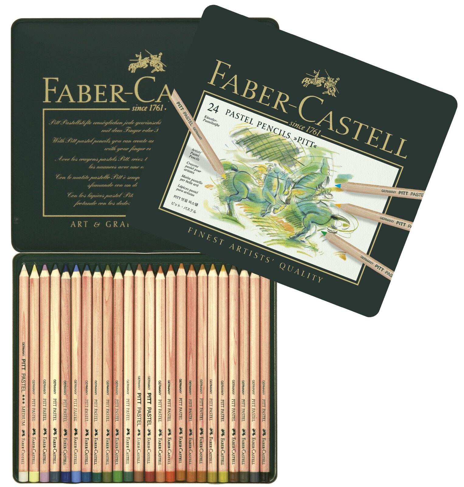 Faber Castell Farbstift PITT PASTEL 24er Metalletui | Fein Verarbeitet  | Sale Outlet  | Komfort