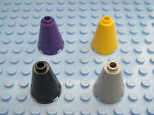 LEGO 8 x Cono Nuovo Grigio scuro Dark Bluish Gray Cone 2x2x2 Open Stud 3942c