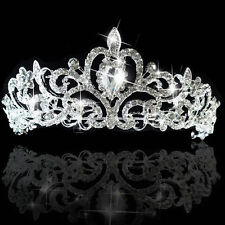 "Beauty Pageant Queen Rhinestone Bridal Wedding Prom Tiara Crown 2"" Tall NEW"