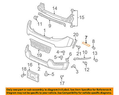 Genuine Honda Insight Front Bumper Right Side Retainer Bracket OEM 71193TM8A01